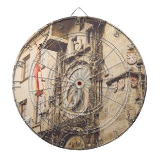 Prague, Czech Republic astronomical clock Dartboard