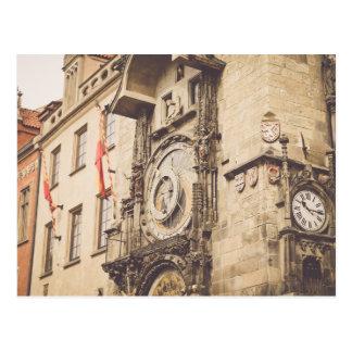Prague, Czech Republic astronomical clock Postcard
