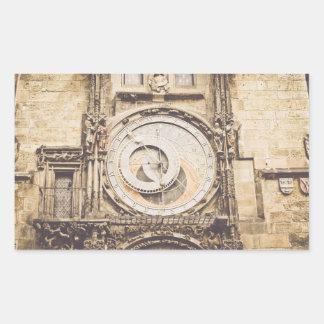 Prague, Czech Republic astronomical clock Rectangular Sticker