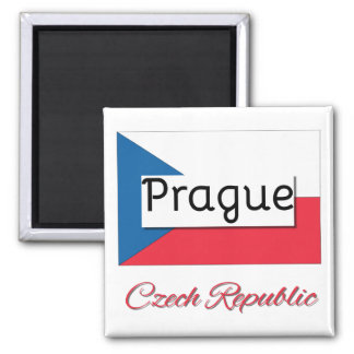 Prague Czech Republic Flag Magnet