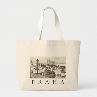 Prague, Czech Republic Large Tote Bag