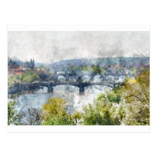 Prague Czech Republic Postcard