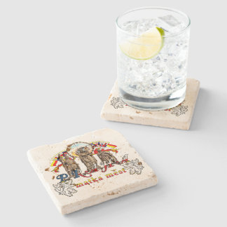 Prague Czech Republic Stone Coaster