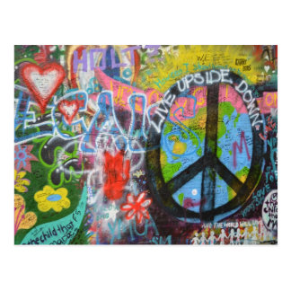 Prague Graffiti Postcard
