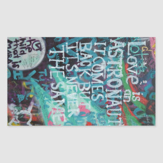 Prague Graffiti Rectangular Sticker