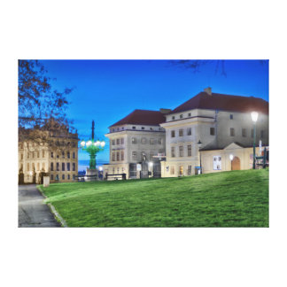 Prague Hradcanske Square Lamp Canvas