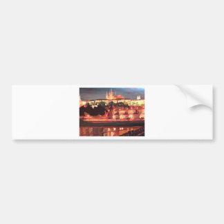 Prague - Hradschin with Charles Bridge Bumper Sticker