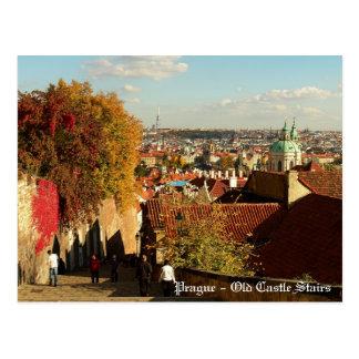 Prague - Old Castle Stairs Postcard