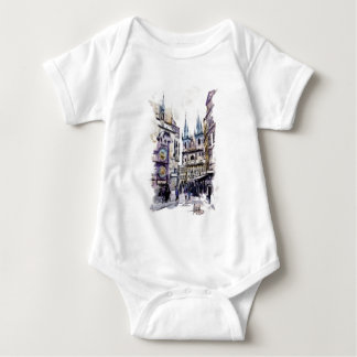 PRAGUE - Old town square1a.png Baby Bodysuit
