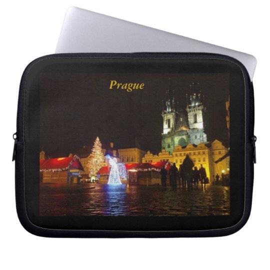 Prague on Christmas Night Laptop Sleeve