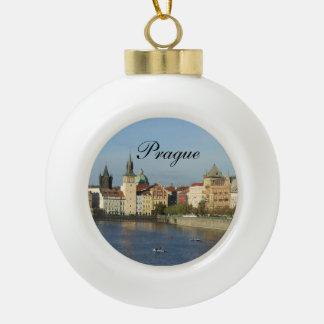 Prague Photo Bulb Orament Ceramic Ball Christmas Ornament