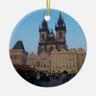 Prague Praha Czech Republic Old Town Square Round Ceramic Decoration