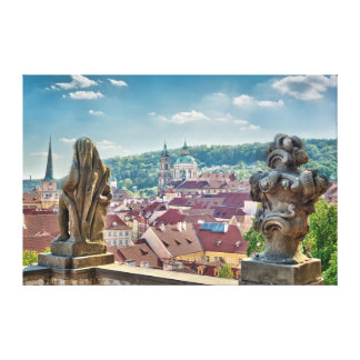 Prague St.Nicholas Church from Balcony Canvas
