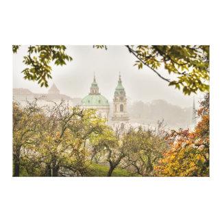 Prague St. Nicholas Church in the Morning Canvas Print