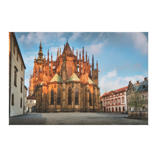 Prague St. Vitus Cathedral in the Morning Canvas Print
