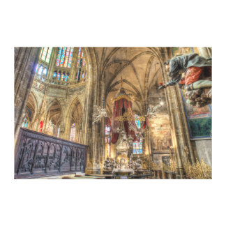 Prague St.Vitus Cathedral Inside Canvas