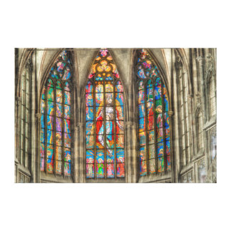 Prague St.Vitus Cathedral Window Canvas