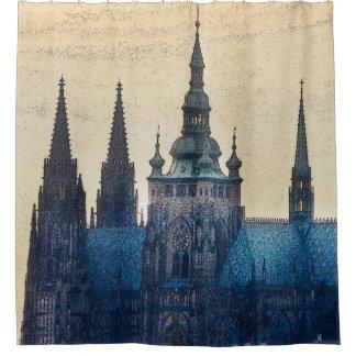 Prague Steeples 2 Shower Curtain