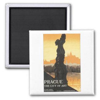 Prague, The City of Art Square Magnet