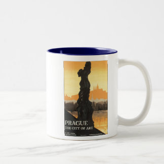 Prague, The City of Art Two-Tone Coffee Mug