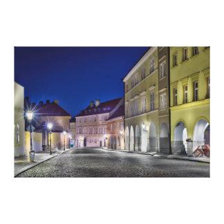 Prague Ujezd Street Night Canvas