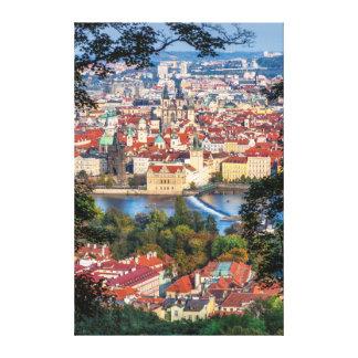 Prague Vltava River Old Town Canvas