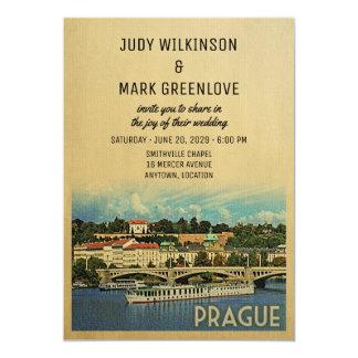 Prague Wedding Invitation Czech Republic