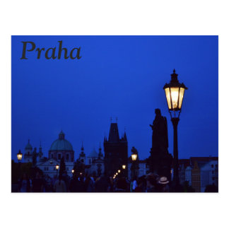 Praha at Night Postcard