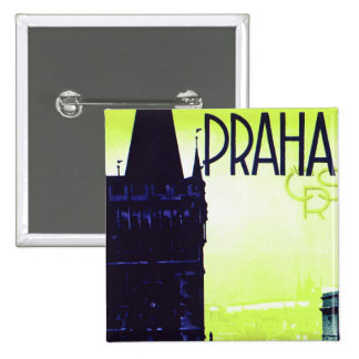 Praha 15 Cm Square Badge