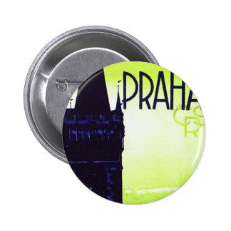 Praha 6 Cm Round Badge