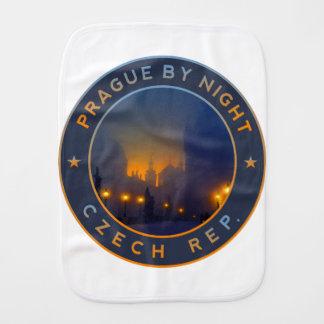 Praha by Night Burp Cloth
