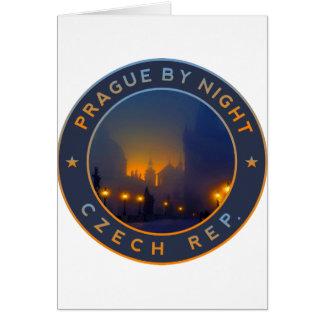 Praha by Night Card