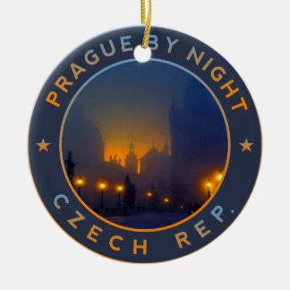 Praha by Night Ceramic Ornament