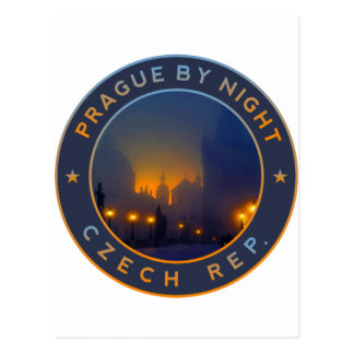 Praha by Night Postcard