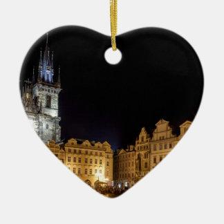 praha ceramic heart decoration