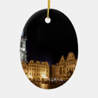 praha ceramic oval decoration