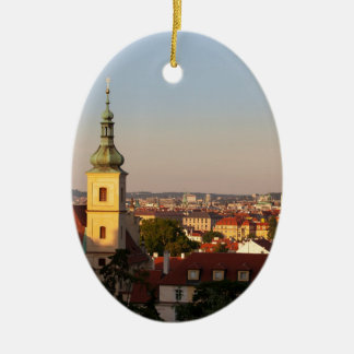 praha ceramic oval decoration