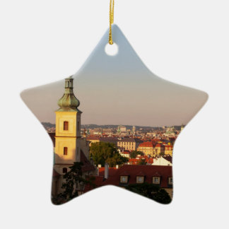 praha ceramic star decoration
