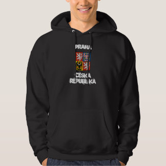 Praha, Ceska Republika with coat of arms Hooded Pullover
