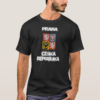 Praha, Ceska Republika with coat of arms T-Shirt