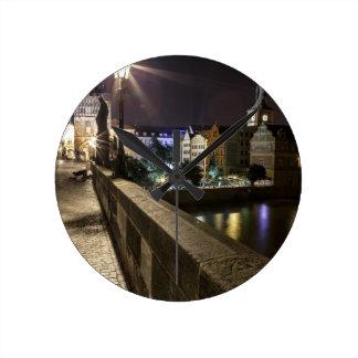 Praha Round Wall Clocks
