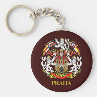 Praha (Prague) Basic Round Button Key Ring