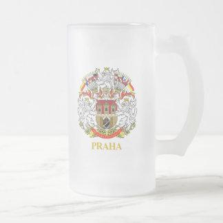 Praha (Prague) 16 Oz Frosted Glass Beer Mug