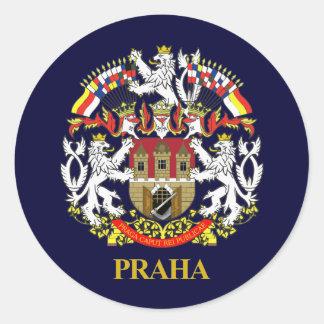 Praha (Prague) Round Sticker