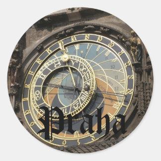 Praha Round Sticker