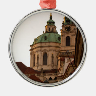 Praha Silver-Colored Round Decoration