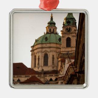 Praha Silver-Colored Square Decoration
