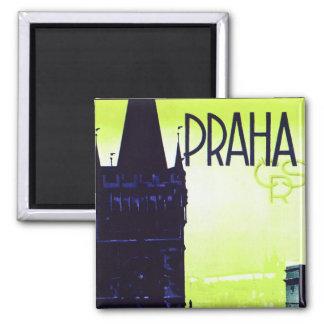 Praha Square Magnet