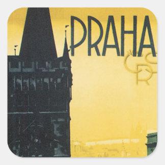 Praha Square Sticker