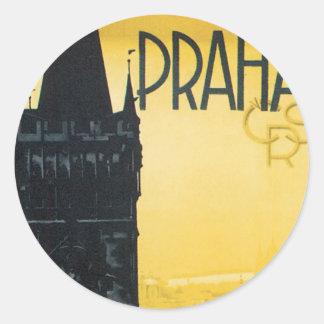 Praha Classic Round Sticker